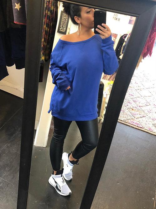 Royal Blue boyfriend pullover