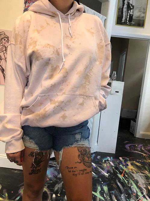 Nude marble hoodie