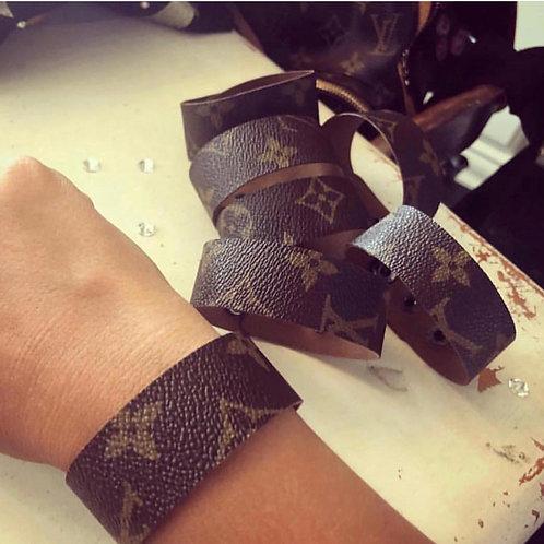 Upcycled LV bracelets