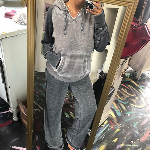 Gray vintage wash sweatsuit