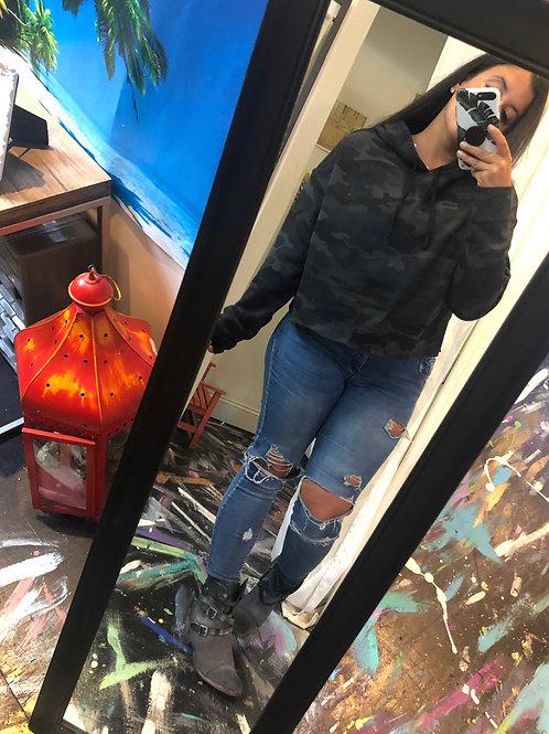 Camo short hoodie