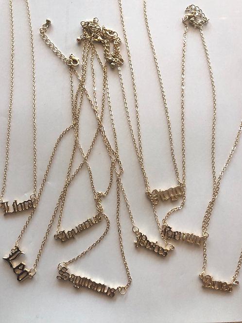 Horoscope Necklaces