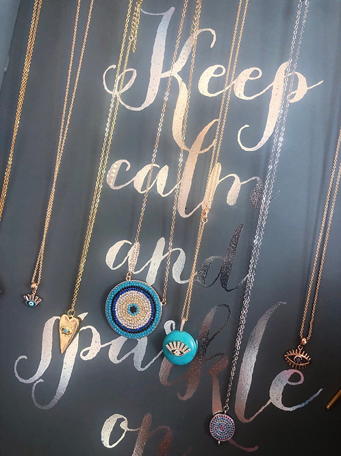 Eye necklaces