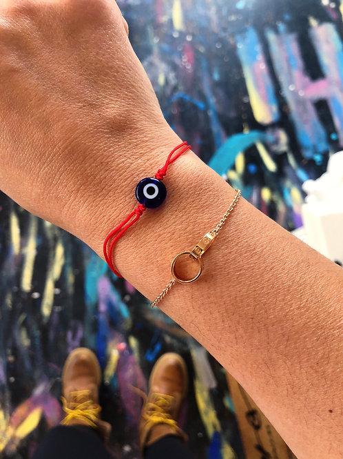 Red eye bracelet