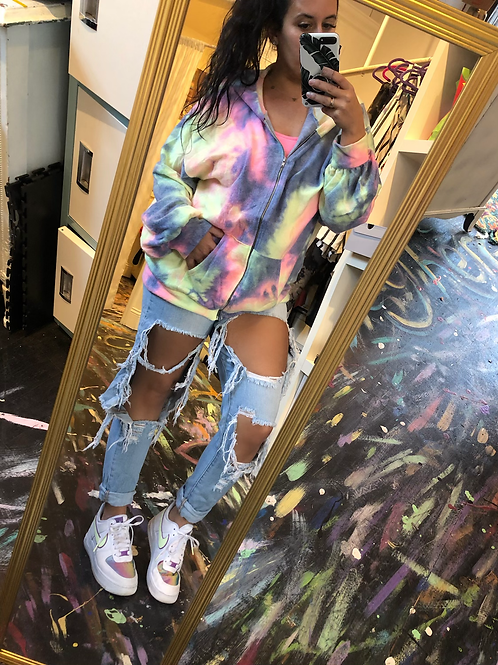 Tiedye softstyle zip up