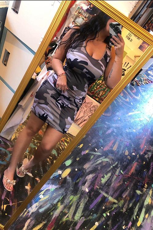 PRE-ORDER camo tank dress