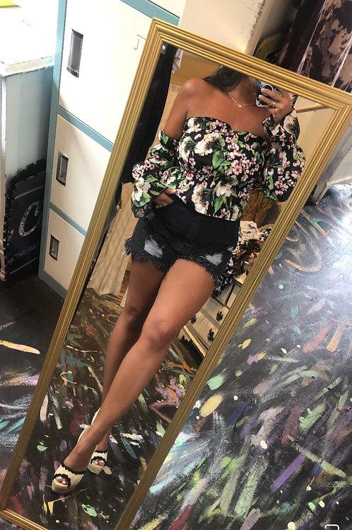 Elina floral sleeve top