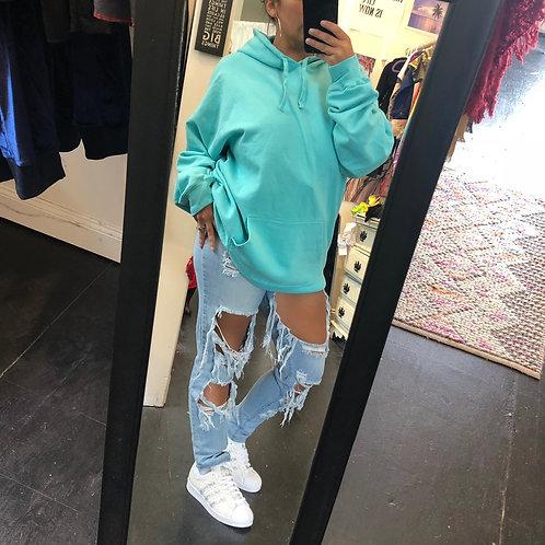 Mint oversized hoodie