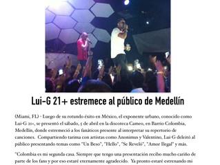 Lui-G 21+ estremece al publico de Medellin