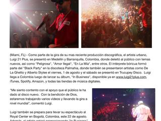 "Luigi 21 Plus llega a Colombia con ""In Business"""