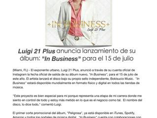 """Luigi 21 Plus anuncia lanzamiento de su album """"In Business"""" para el 15 de julio"""