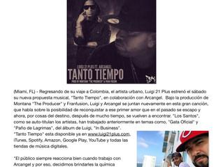 "Luigi 21 Plus estrena ""Tanto Tiempo"" junto a Arcangel"