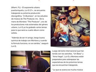 "Lui-G 21+ graba su proximo album, ""In Business"" en The Producer, Inc."