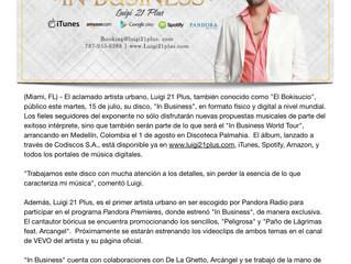 """Luigi 21 Plus lanza su album: """"In Business"""""""