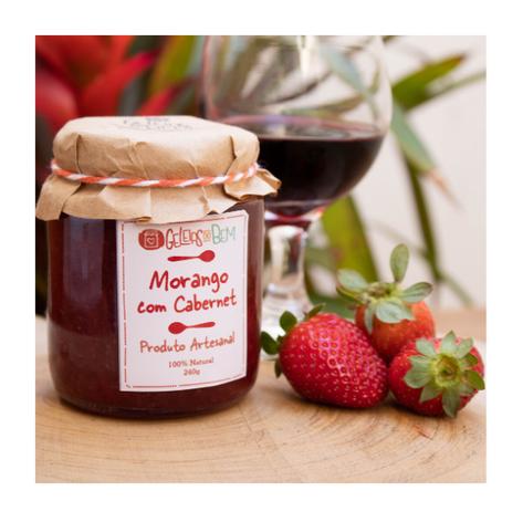 Geleia de Morango com Vinho Cabernet Valor: 160 g = R$16,00 / 240 g - R$23,00