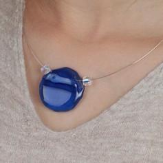 Colar Círculo Azul Colab FePi - R$ 410