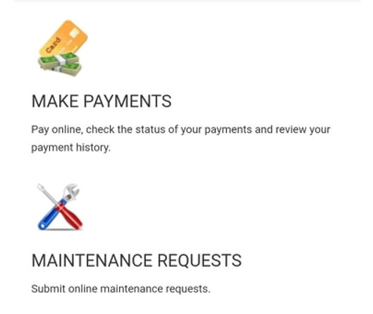 Make Payments and Maintenance Requests