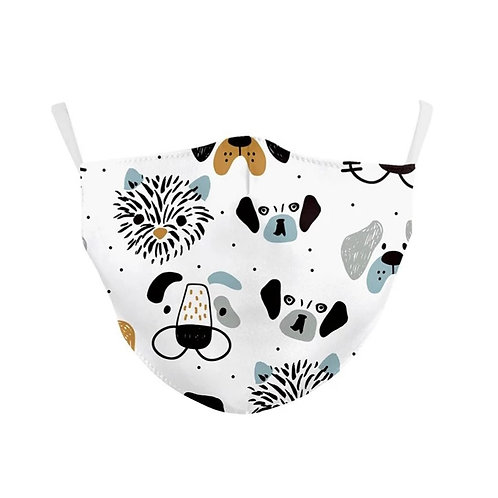 Kids Washable Cloth Face Mask + 2 Filters - Puppy Love