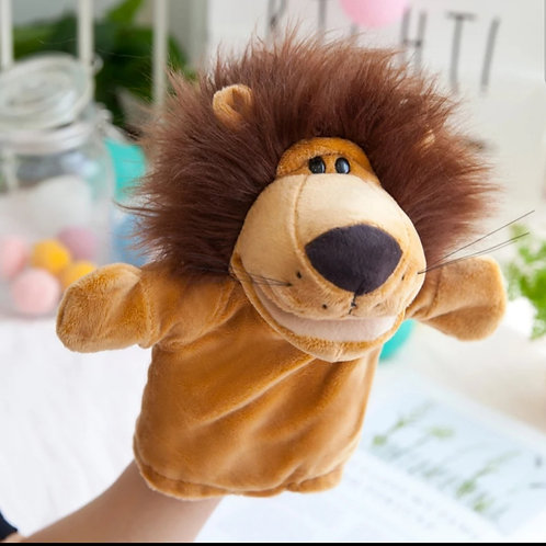 Plush high quality hand puppet - Larry the Lion