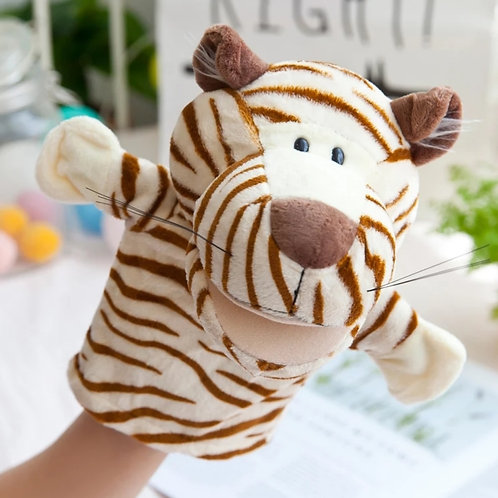 Plush high quality hand puppet - Tommy the Tiger