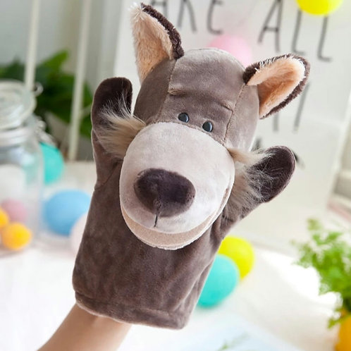 Plush high quality hand puppet - Watson the Wolf