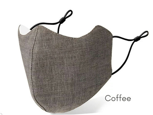 Deluxe Adult Washable Cloth Face Mask - Coffee