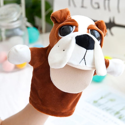 Plush high quality hand puppet - Bruno the Bulldog