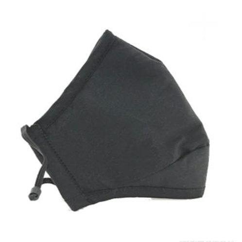 Adult Washable Cloth Face Mask + Filter - Black