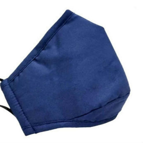 Adult Washable Cloth Face Mask + Filter - Navy