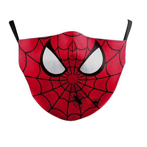 Kids Washable Cloth Face Mask + 2 Filters - Spiderman