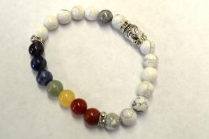 White MOTHER OF PEARL Bracelet w/ Velvet Bag