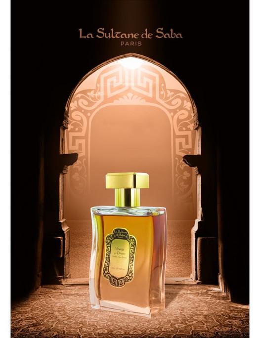 Eau de Parfum Ambre Musc Santal, signée La Sultane de Saba : un enchantement venu d'Orient...