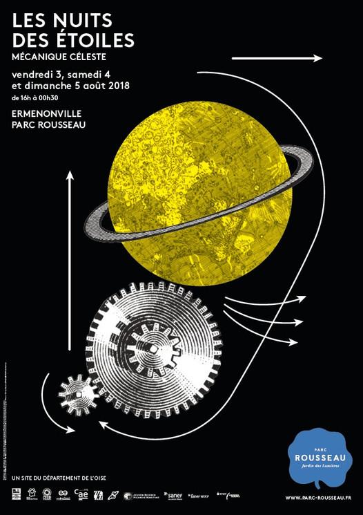 La mécanique céleste au Parc Jean-Jacques Rousseau pour Les Nuits des étoiles 2018