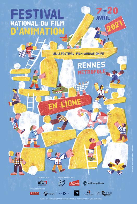 Festival national du Film D'animation à Rennes : L'affiche 2021 se dévoile