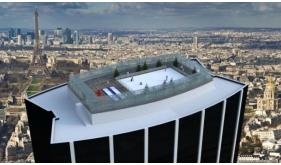 Une Saint-Valentin originale : La plus haute patinoire de Paris à 210 m de hauteur !