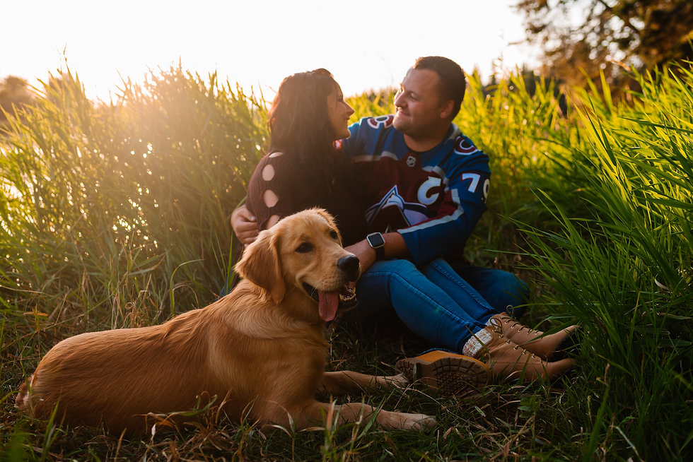 Outdoor Family Photos - Red Deer Sunset Photography