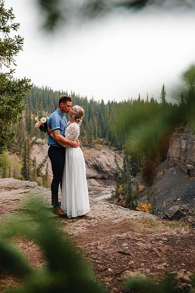Wedding Adventure Photography in Alberta Canada.