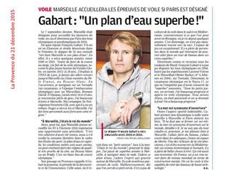 F. Gabart dans la Provence à propos des JO 2024