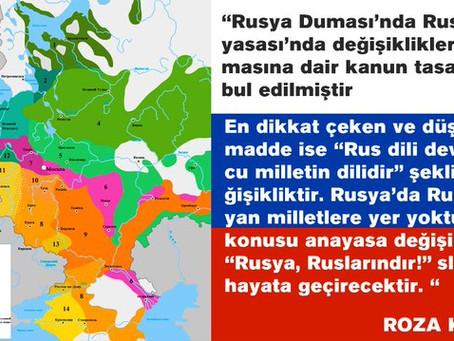 RUS OLMAYAN MİLLETLERİN SONUNU HAZIRLAYAN RUSYA ANAYASASI DEĞİŞİKLİĞİ