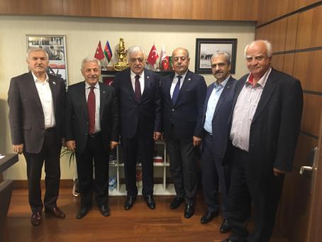 AZERBAYCAN DOSTLUK GRUBU BAŞKANI ŞAMİL AYRIM ZİYARET EDİLDİ