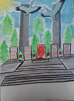 Исхакова Диана 2 МЕСТО в конкурсе рисунков ко Дню города 2015 среди участников в возрасте от 6 до 10