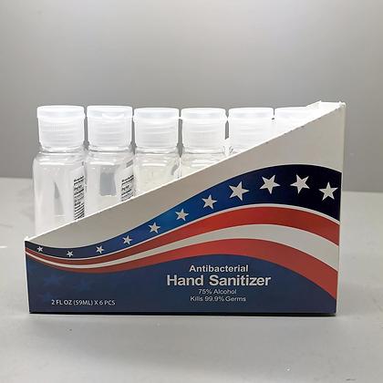 2 oz. Hand Sanitizer Antibacterial Gel – Box of 6