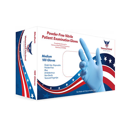 Nitrile Patient Exam Gloves  MOQ = 150 cases/day by air freight ($190 per case)