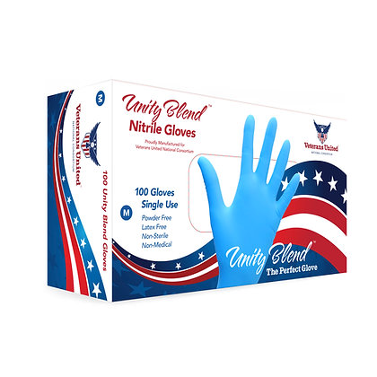 UNITY BLEND Nitrile Gloves (Non-Medical) / MOQ = 10 boxes ($14.00 per box)
