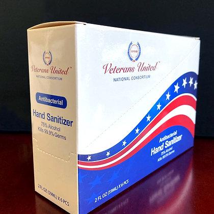 2 oz. Hand Sanitizer Antibacterial Gel – Case = 16 Boxes/96 Bottles