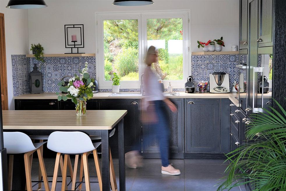 Cuisine cottage noire à Blois