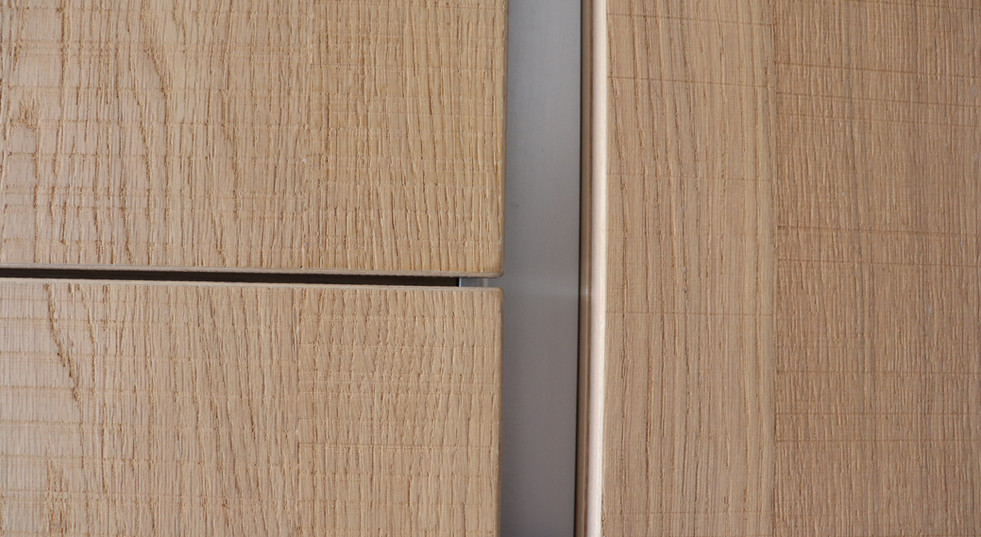 Detail bois porte de cuisine