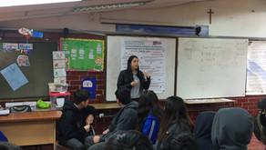 """Estudiantes de 7º y 8º básico del Colegio Villa Jesús participaron de nuestro taller """"Cuando la"""