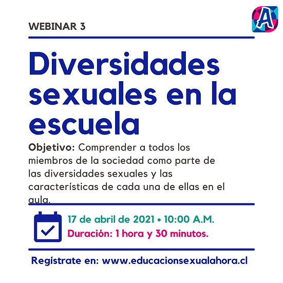 Webinar 3: Diversidades sexuales en la escuela (17/04)