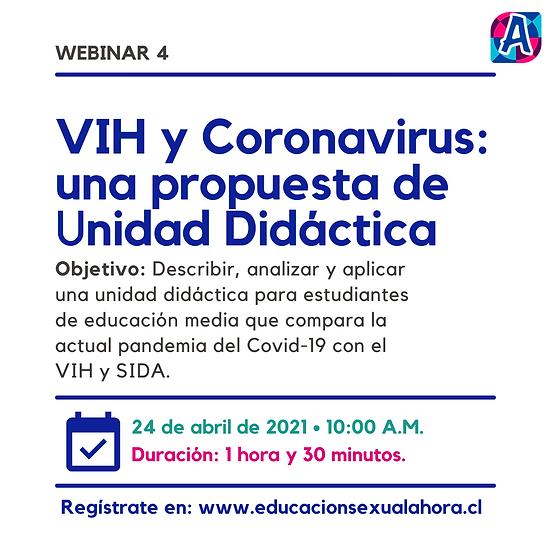 Webinar 4: VIH y Coronavirus: una propuesta de Unidad Didáctica (24/04)